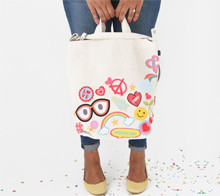 Iron on flair tote bag
